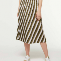 Jupe mi-longue motif rayé Sisley