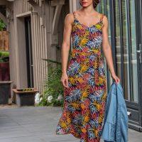 Robe longue aux motifs multicolores Lola espeleta