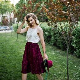 jupe velours