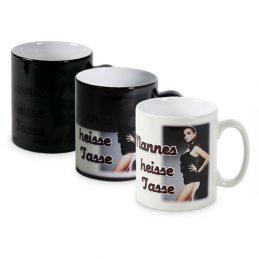Mug magique noir personnalisable