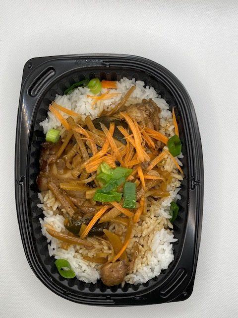 poulet et riz thaï