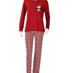 pyjama-rouge-rose-pomme