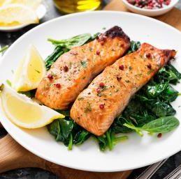 saumon-épinard