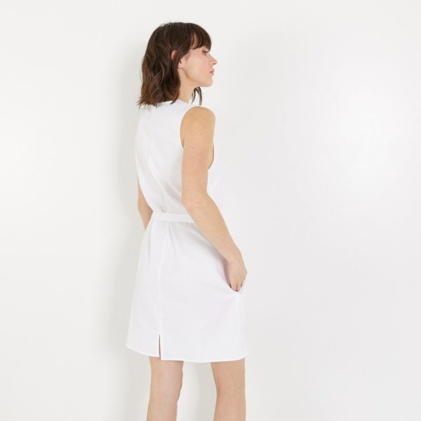 2111231-ROBE-COURTE-SS-MANCHES-BLANC-LAURENCE-TAVERNIER