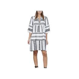 robe-courte-col-tunisien-brodee-elephants-blanc-noir-fiesta (2)