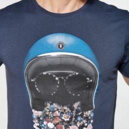 T-shirt Lewan Bleu Marine floral Le Temps des Cerises