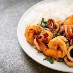 Riz thaï aux crevettes