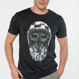 T-shirt Coman noir imprimé Le Temps des Cerises