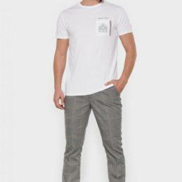 T-shirt Boly blanc brodé Le Temps des Cerises